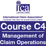 ICA Course C4: Management of Claim Operations